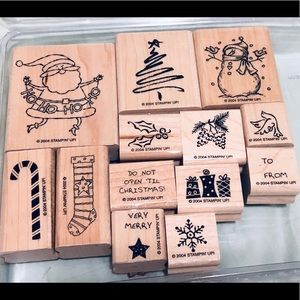 Retired Stampin Up Holiday Tag  Team stamp set